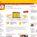 Packstation Webseite - Original