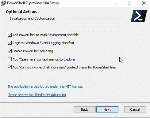 PowerShell 7 Install