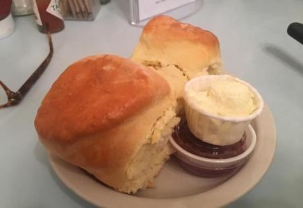 To-die-for biscuits with Allison's famous homemade raspberry jam.