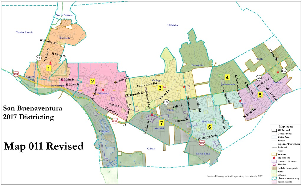 VENTURA VOTING DISTRICTS APPROVED