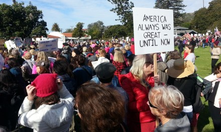 ONE YEAR LATER   Rally on anniversary of Trump inauguration focuses on climate change, get-out-the-vote efforts