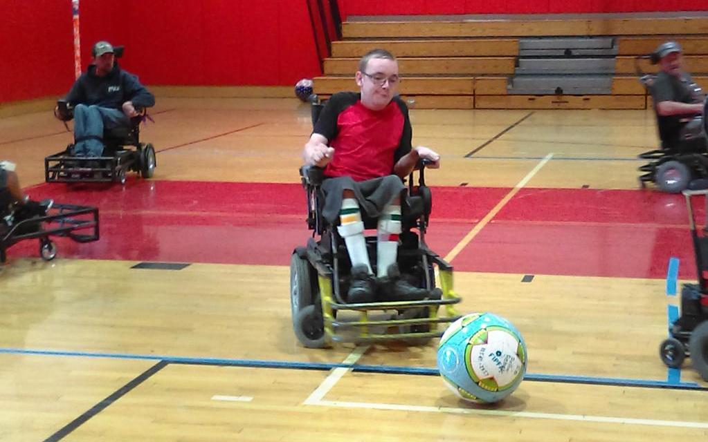 ROLLIN' REBELS  Area residents join in the first competitive soccer team for the wheelchair bound
