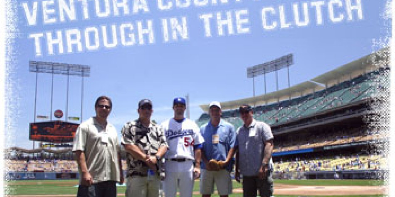 Local Ballplayers Celebrate at Dodger Stadium