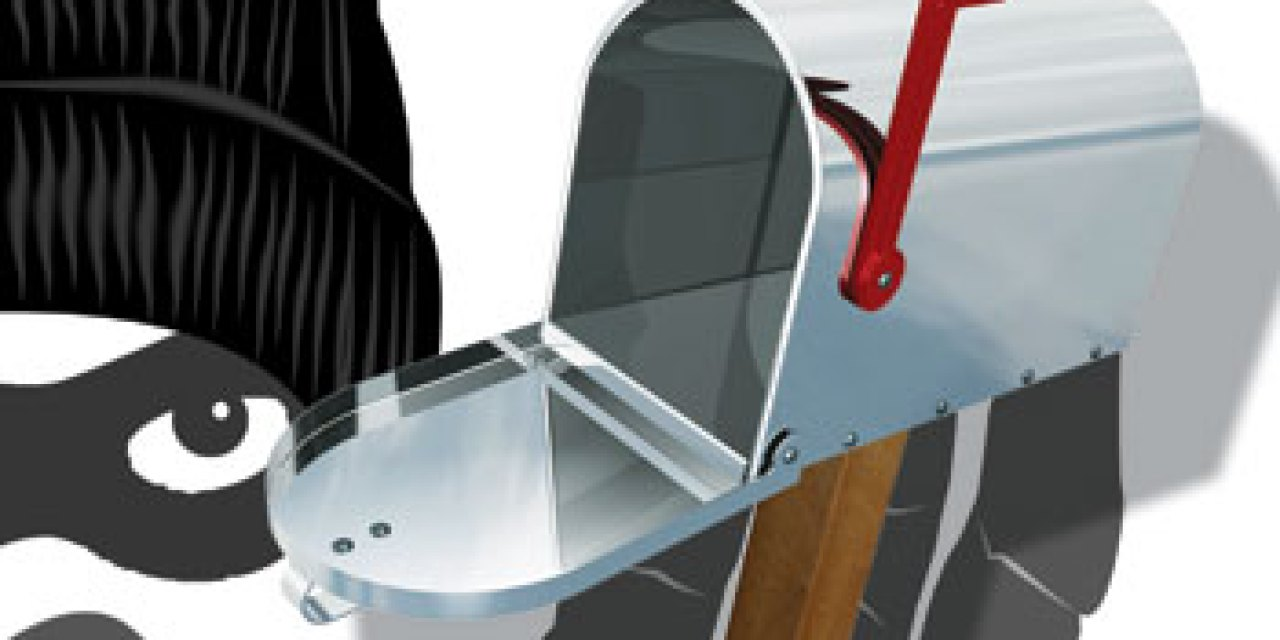 The red flag on your mailbox     — a beacon for thieves