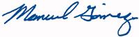 signed by Manuel N. Gómez