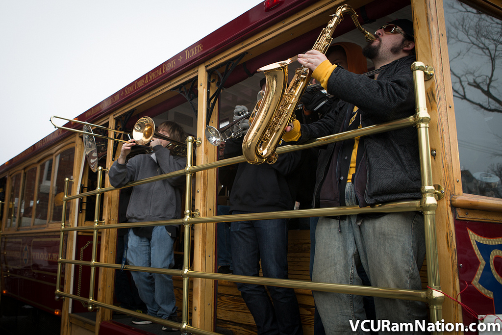 "VCU's ""Peppas"" pep band will take their act to the Virginia State Fair on Monday, Sept. 30."