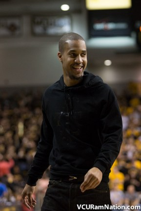 Eric Maynor returned to the Siegel Center to watch VCU defeat George Washington this past week.