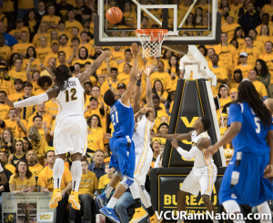 Mo Alie-Cox blocked five shots for VCU in tonight's win over No.10 Saint Louis.
