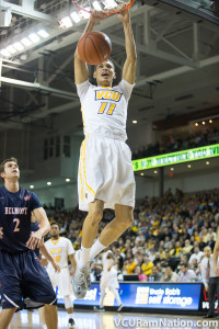 Freshman Mike Gilmore hit two clutch three-pointers for VCU in the Rams' win at George Mason. He'll join a VCU youth movement that could be leaned upon heavily at St. Bonaventure.