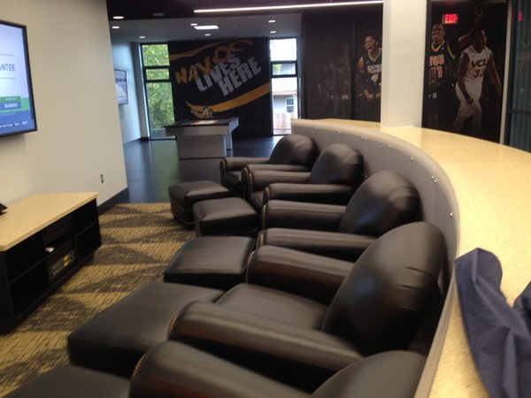 Part of men's lounge. Photo courtesy Tim Pearrell.
