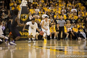 VCU forced 22 turnovers into tonight's win over Prairie View A&M.