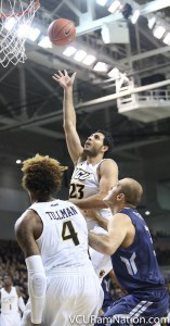 Ahmed Hamdy gave VCU big minutes off the bench in the Rams A-10 opening win over George Mason.