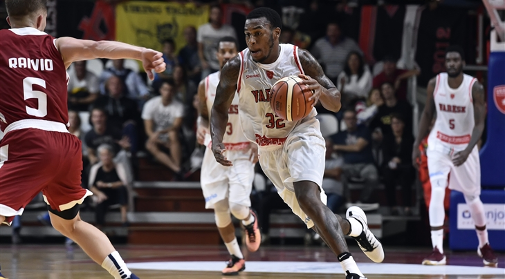 Former VCU greats Melvin Johnson (center) and Eric Maynor (left) have teamed up in Italy's top pro league.