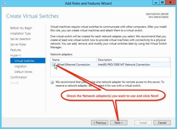 Create Virtual Switches