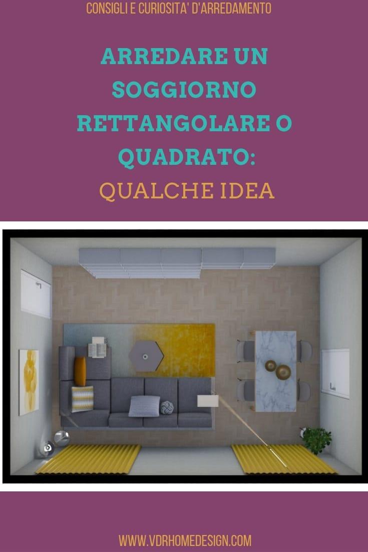 Arredare un soggiorno rettangolare o quadrato con queste idee