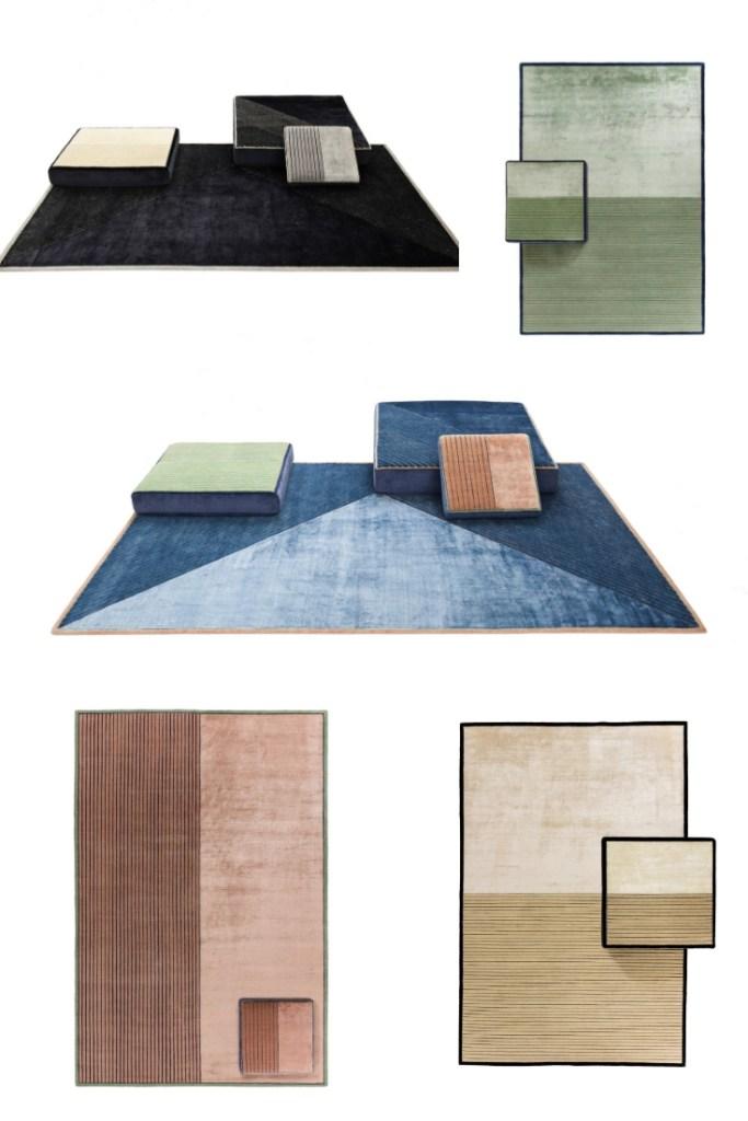 Tendenze del Salone del Mobile: tappeti e pouf MOHEBBAN Milano