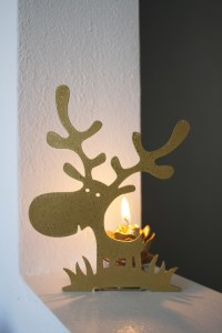 renna oro porta candela