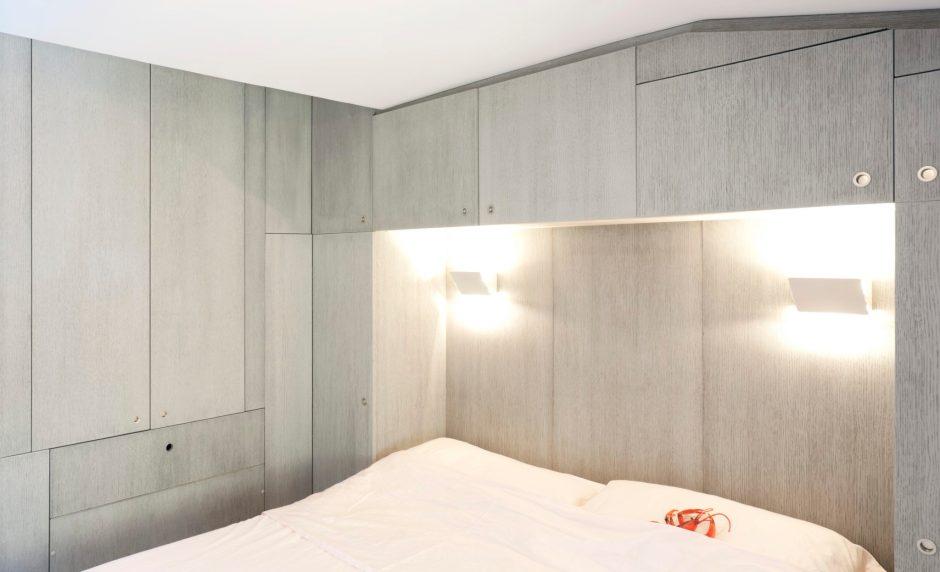 camera da letto a ponte in rovere sbiancato