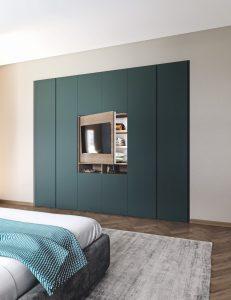 Armadio per camera da letto con Tv incorporata Modula Night La Casa Moderna