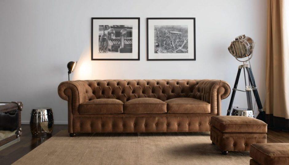 divano classico in pelle