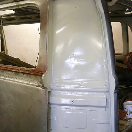 The inner areas get a protective top coat gloss paint