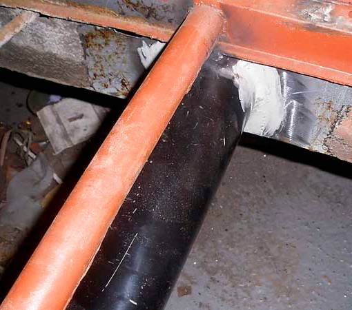 The replacement heater pipe is welded and seam sealed at both ends