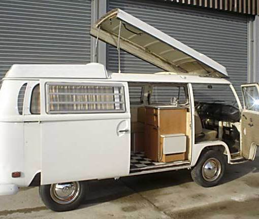 When the Westy arrived in the UK, the Pop Top canvas was non-existant