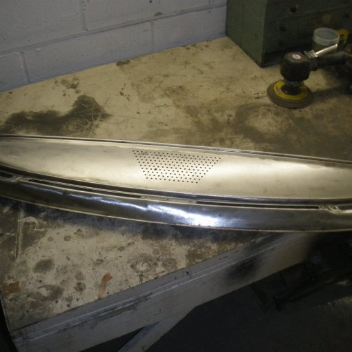 the dash front gets bare metalled ready for painting
