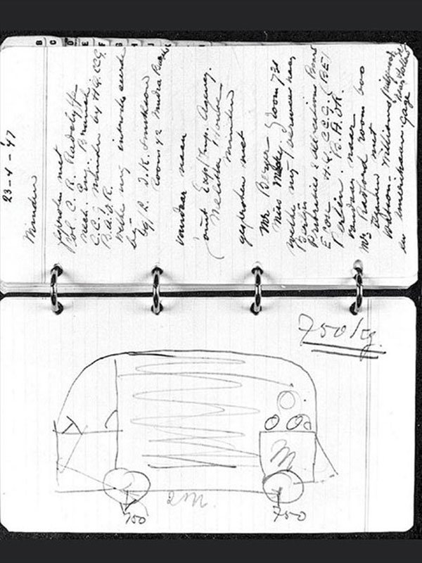 Original Sketch of the VW camper van
