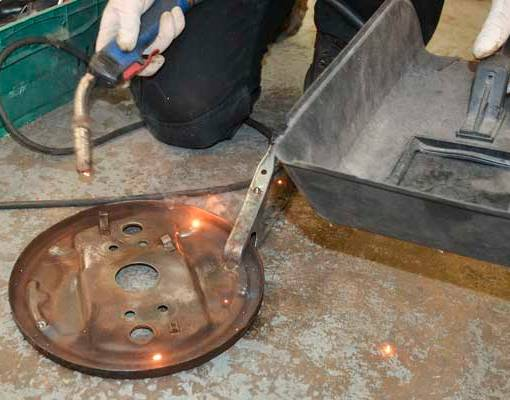 The holes in the backing plate were soon welded up and made as good as new again!