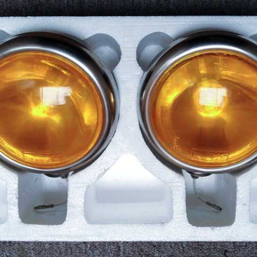 stainless steel driving lights amber lens transformation