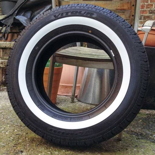195/80/R15 8 ply tyres with 34mm whitewall