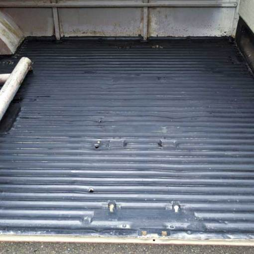 clean cargo floor still looking good with it's protective top coat of POR 15