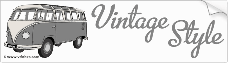 The ultimate in vintage style, a deluxe Samba camper van in Mouse Grey and Pearl White