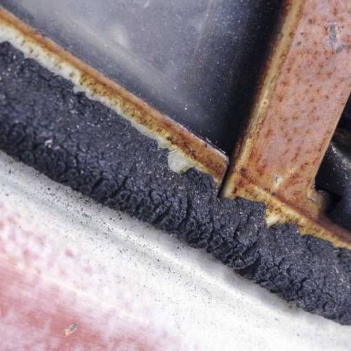 original is not always best – these cab door rubbers are a long way past their use by date
