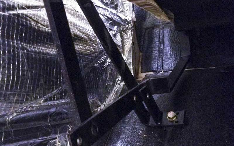the R'n'R Bed mechanism gets bolted securely in place