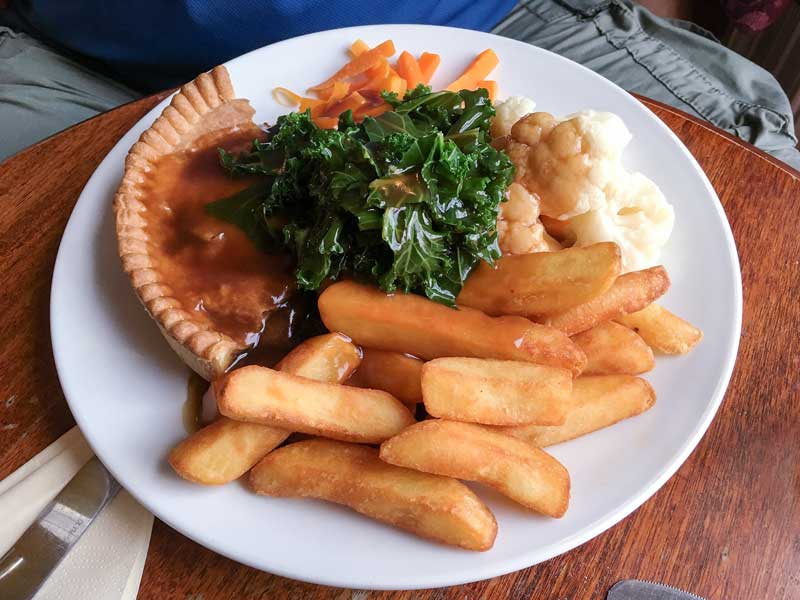 Snake Pass Inn award winning steak and ale pie