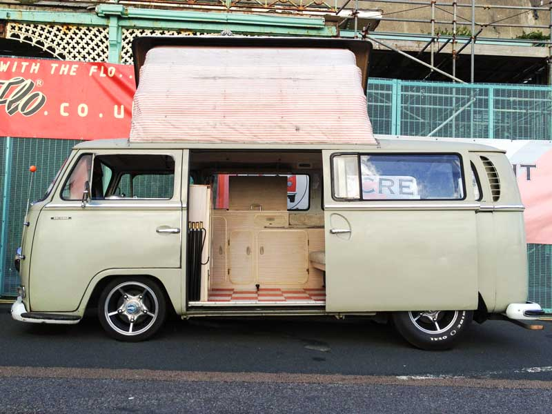 cool looking Early Bay Dormobile conversion