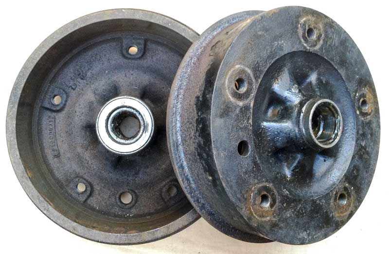 original VW stamped front brake drums Part Nº 211 405 641 B
