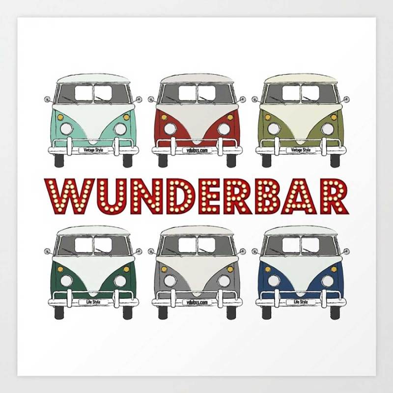 wunderbar – gallery quality Giclée print in a range of sizes
