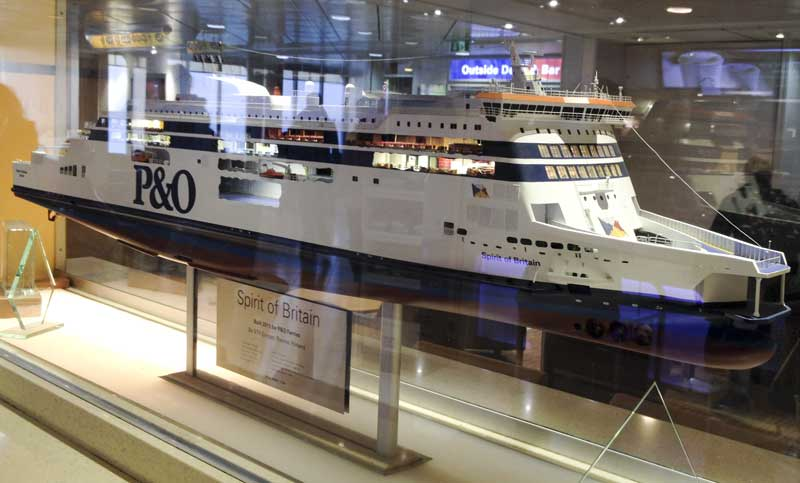 tonights mode of transport, P&O's Spirit of Britain