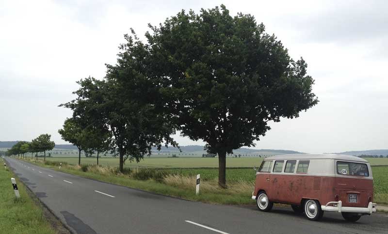 nice to be taking the slower roads through the German countryside