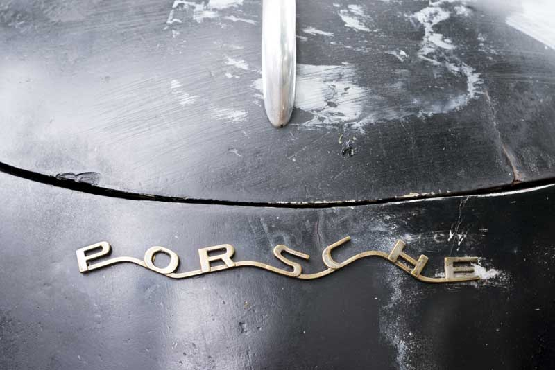 early Porsche badge typography, not straight, but I loved it, very funky!