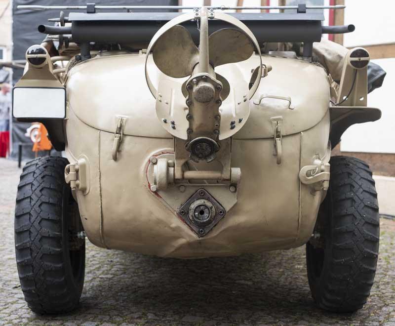 Schwimmwagen type 166 rear end propellor detail