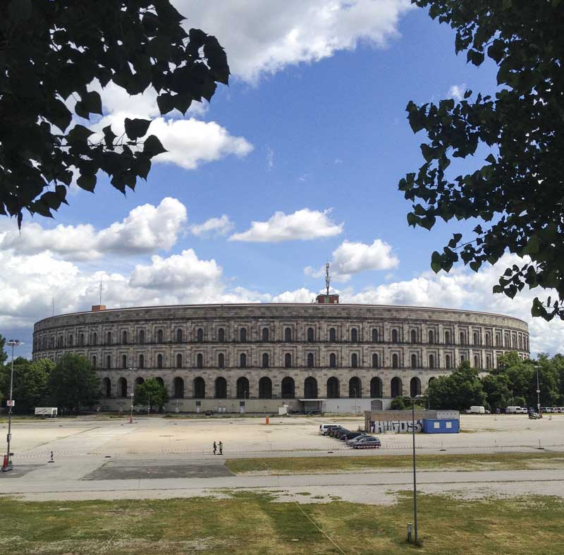 the outside of the Nuremberg congress hall was in remarkable condition