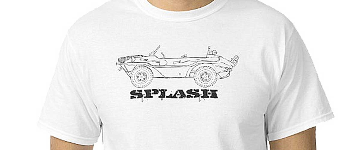 splash! über cool Schwimmwagen, a German amphibious four-wheel drive off-roader