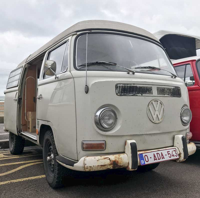 off-road altitude attitude with this ace looking early bay Westy from Belgium