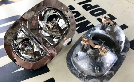cast metal bright chrome finish rear light units (1962-7/71)