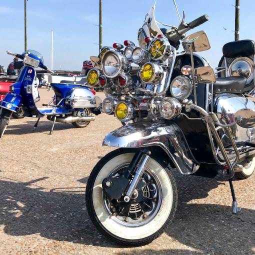 some proper bling on this two-wheeled air cooled scooter
