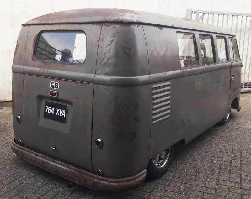 a seriously tough looking barndoor bus